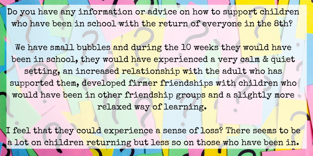 BTS impact on cheildren who've been in school