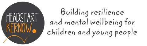 Headstart Kernow logo with the 'building resilience and mental wellbeing for children and young people